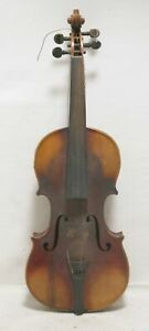 Antique 1800s French 4 4 Violin Fran Ois Salzard With Case Fiddle