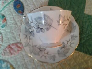 Royal Albert Silver Maple Tea Cup And Saucer Set Bone China Made In England