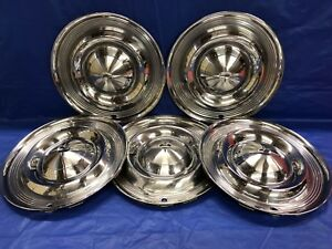Vintage Set Of 5 1957 Oldsmobile 14 Hubcaps 88 98 Jetstar Good Condition