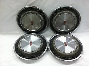 Rare Vintage Set Of 4 1971 72 Oldsmobile 14 Hubcaps F85 Cutlass