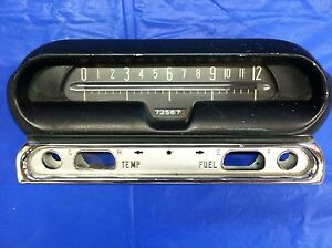 Vintage 1956 57 Hudson Instrument Cluster Panel Speedometer Good Condition Rare