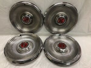 Vintage Set Of 4 1978 79 Pontiac 14 Hubcaps Lemans Phoenix Good Condition