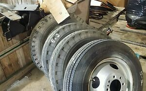 17 5 Inch Steel Wheel Rim 8 Lug With Tires Free Shipping Set Of Four