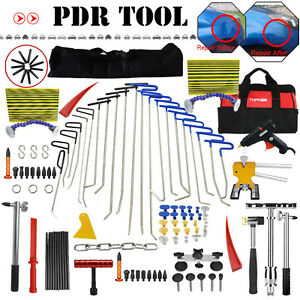 Dent Hail Removal Puller Rods Kit Dent Paintless Repair Slide Hammer Tools Us