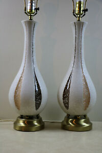 Pair Of Original Retro Mid Century Modern Table Lamps Eames Era