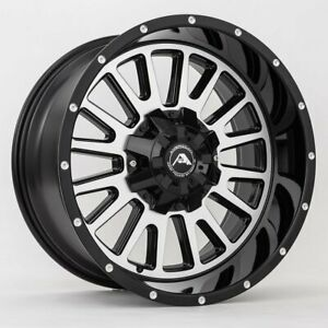 20x12 Black Machined Wheels American Off Road A105 5x150 44 Set Of 4