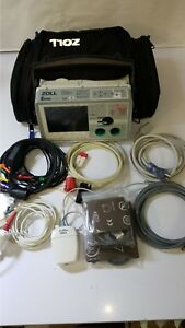 Zoll E 12 lead Bls Analyze Pacer Sp02 Etc02 Nibp Cuffs Case New Battery