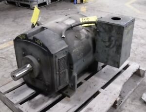 125 Hp Dc General Electric Motor 1750 Rpm 407at Dpfv 500 V