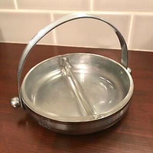 Chase Art Deco Chrome Candy Nut Olive Or Pickle Serving Dish