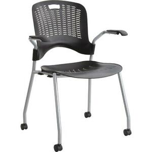 Safco Sassy Stack Chairs Polypropylene Black Seat Polypropylene Black