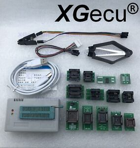 Xgecu Tl866ii Programmer Plus For Spi Flash Nand Eprom 13 Adapter clip Ship Usa