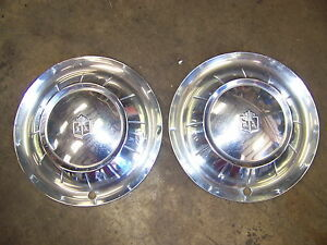 1954 Plymouth Savoy Hubcaps Wheelcovers 15 Pair Oem 1538828