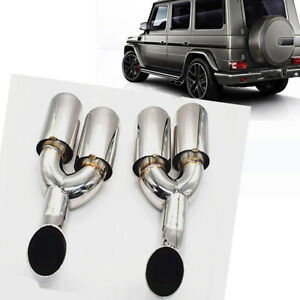 G65 Amg Sport Exhaust Muffler End Tip Pipe For Mb Benz G W463 G500 G55 G63