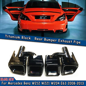 Pair Style Rear Exhaust Muffler Tips For Mercedes Benz W212 W221 W204 2008 2013