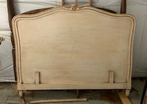 Local Pickup Country French Headboard Full Size Painted Wood Matching Armoire