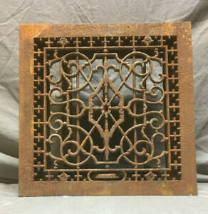 Antique Cast Iron Decorative Heat Grate Wall Register 12x12 148 19lr