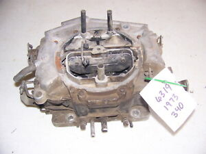 1973 Dodge Plymouth 340 Thermoquad Carburetor 6319 Road Runner Charger Cuda