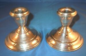 Sterling Pair Antique Silver Candlesticks