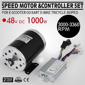 48v Dc Electric Speed Motor 1000w W Controller 3000 Rpm Mini Bike Tricycle