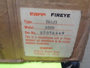Fireye 26sj5 6000 26sj5 6000 Reconditioned