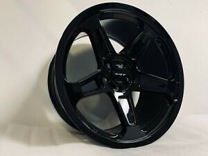 20x9 0 20x10 5 Staggered Srt Style Gloss Black Rims Wheels Brand New Style