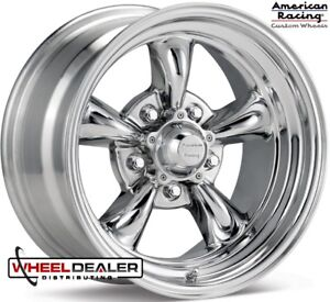 4 American Racing Vn515 Torque Thrust Ii 15x7 5x4 75 6mm Polished Wheels Rims