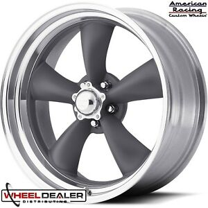 18x7 18x8 Gray American Racing Torque Thrust Wheels Chevelle Malibu 1964 1965
