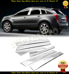 For 2010 2017 Cadillac Srx Polished 6pcs Stainless Steel Door Pillar Posts Trims