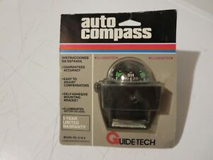Nos Vintage Rod Rat Compass Guidetech Guide Tech Illuminated Car Boat Cobbs