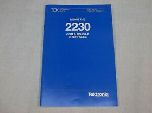 Tektronix 2230 Using Gpib Rs 232 c Interfaces Reference Guide 070 5709 00