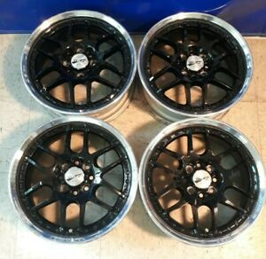 4 15 Work Ewing Rsb 4x100 Jdm Wheels Rims Vip Mesh 3pc Rare Authentic Split