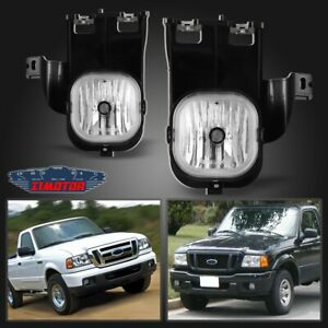 Fit Ford Ranger 06 07 Clear Lens Pair Bumper Fog Light Lamp Oe Replacement Dot
