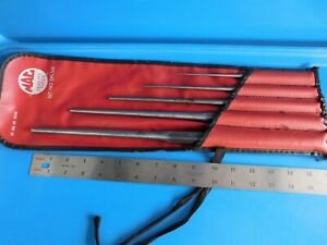 Used Mac Tools Long Tapered Drift Punch Set 5 Punch S Bag Usa