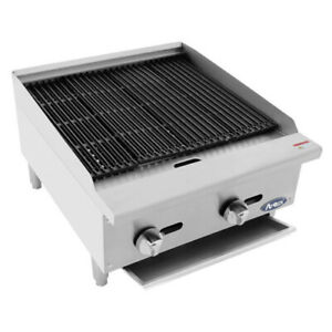 Atosa Atcb 24 24 Heavy Duty Countertop Gas Charbroiler With Lava Rocks