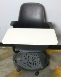 Steelcase 480120 Node Tripod Base High back Classroom Chair With Work Surface