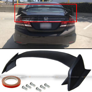 For 06 15 Civic 4dr Sedan Fk8 Type R Style Unpainted Abs Trunk Wing Spoiler