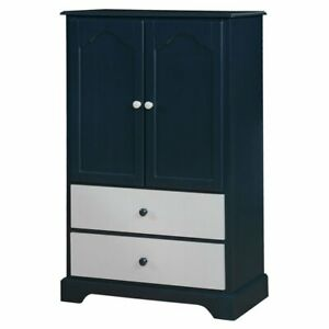 Furniture Of America Poppy Wardrobe Armoire In Blue
