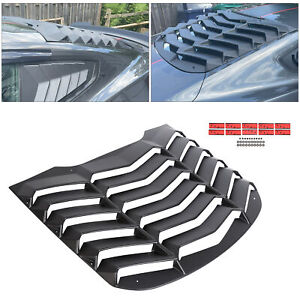 1x Matte Black Abs Rear Window Louver Cover Sun Shade For Ford Mustang 2015 2019
