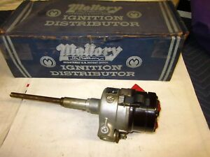 Nos Pontiac 6cyl Mallory Dual Point Distributor 1937 53 Chieftain Torpedo Coupe