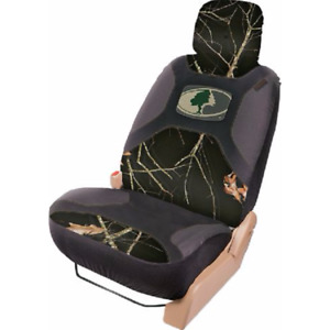 Mossy Oak Country Camo Black Seat Cover Universal Camouflage Car Auto Truck