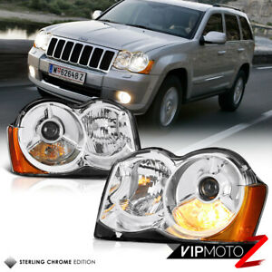 Factory Style For 08 10 Jeep Grand Cherokee Upgrade Projector Headlights Pair