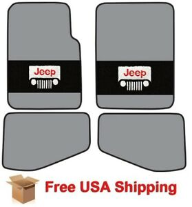 Acc Jeep Floor Mats With Headlight Logo For 1997 2006 Wrangler Cut Pile
