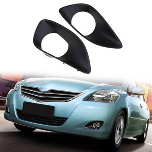 Front Bumper Fog Light Driving Lamp Cover Trim For Toyota Yaris Sedan 2007 2013
