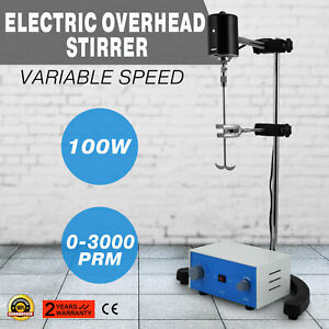Electric Overhead Stirrer Mixer 100w New Analysis Room Easy Operation Drum