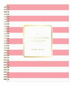 Day Designer Daily monthly Pink Stripe Planner 8 X 10 July 2019 June 2020
