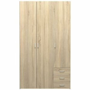 Tvilum Space 3 Drawer And 3 Door Wardrobe In Oak Structure