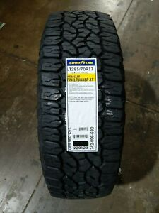 Lt285 70r17 Goodyear Wrangler Trailrunner A t 121r 80psi Load E Owl set Of 4