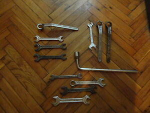 Vintage Mercedes Benz Spanner Wrench Matador Dowidat Heyco Lot Of 12