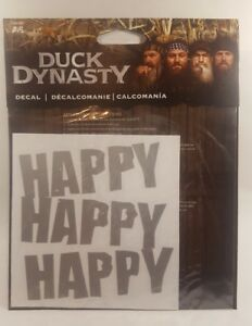 Duck Dynasty Truck Car Auto Window Decal Happy Happy Happy Hunting Gift