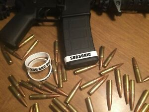 SUBSONIC 300 AAC BLK BLACKOUT ID MAG BANDS PACK OF 5 FREE SHIPPING $9.99